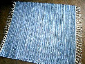 Úžitkový textil - tkany koberec modry - 9179883_