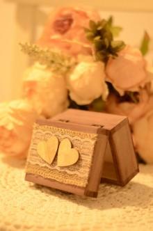 Krabičky - Vintage krabička na prstienky - 9181790_