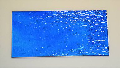 Suroviny - Sklo pruhované, tyrkysové, zn. Bullseye - 9178552_