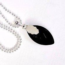 Náhrdelníky - Zodiac Sign Gemstone Pendant / Prívesok z minerálu podľa znamenia (Baran - čierny obsidián) - 9178556_