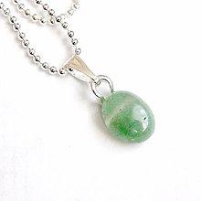 Náhrdelníky - Zodiac Sign Gemstone Pendant / Prívesok z minerálu podľa znamenia /0383 (Kozorožec - zelený aventurín) - 9178558_