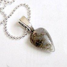 Náhrdelníky - Zodiac Sign Gemstone Pendant / Prívesok z minerálu podľa znamenia /0383 (Blíženec - machový achát) - 9178663_