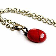 Náhrdelníky - Zodiac Sign Gemstone Pendant / Prívesok z minerálu podľa znamenia (Škorpión - jaspis červený ohnivý) - 9178765_