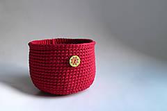 Košík - Červený | Bordový | tmavý | gombík | mandala