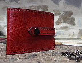 Peňaženky - Peněženka červený melír - 9179948_