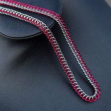 Náhrdelníky - Ve spojení - náhrdelník (Červený) - 9181532_