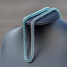 Náhrdelníky - Ve spojení - náhrdelník (Světle modrý) - 9181535_