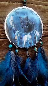 Dekorácie - Lapač snov - čierny vlk - 9180740_