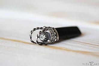 Náhrdelníky - Strieborný amulet s turmalínom a kremeňom- Tu-Magic - 9178636_