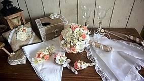 Nezaradené - Jutový svadobný set - 9178959_