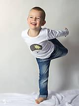 Detské oblečenie - tričko JEŽKO 86 - 134 (dlhý aj krátky rukáv) - 9179038_
