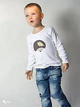 Detské oblečenie - tričko JEŽKO 86 - 134 (dlhý aj krátky rukáv) - 9179041_