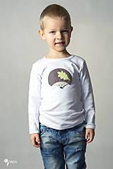 Detské oblečenie - tričko JEŽKO 86 - 134 (dlhý aj krátky rukáv) - 9179042_