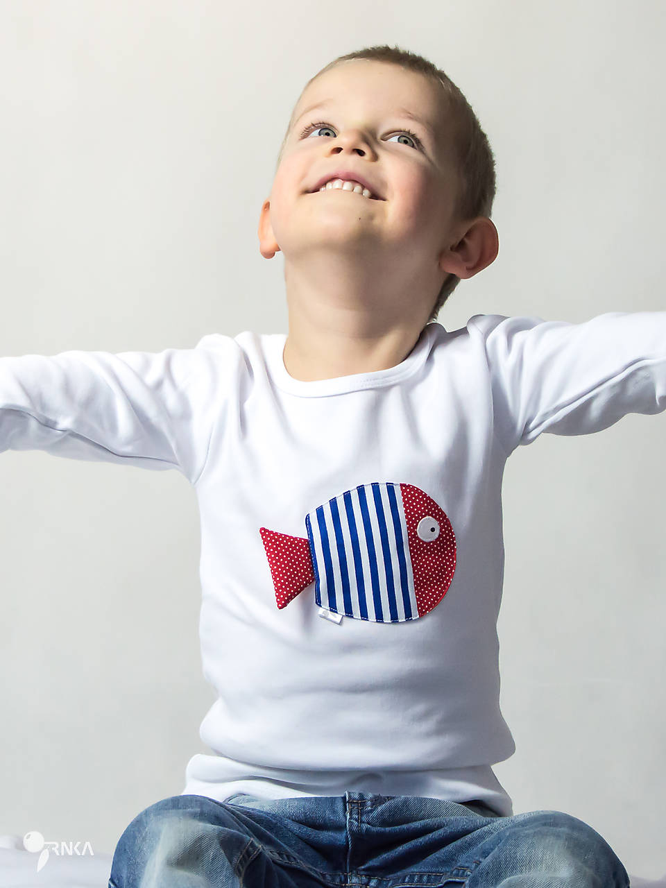tričko NÁMORNÍCKA RYBKA 86 - 134 (dlhý aj krátky rukáv)