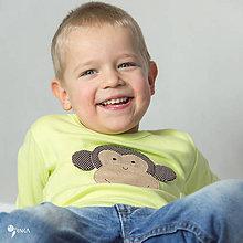 Detské oblečenie - tričko (dlhý rukáv) OPICA - 9178943_