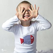 Detské oblečenie - tričko NÁMORNÍCKA RYBKA 86 - 134 (dlhý aj krátky rukáv) - 9179332_