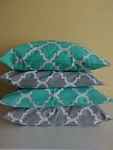Úžitkový textil - vankúše sivé maroko 40 x40 cm - 9181510_