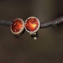 Náušnice - Náušnice Klipsne Orange - 9180124_