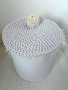 Úžitkový textil - Háčkovaný PODSEDÁK - 9177724_