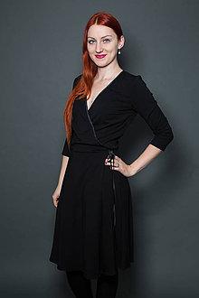 Šaty - Čierne bambusové šaty - 9177584_