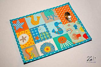 Textil - Detské prestieranie s vreckom na príbor Oceán - 9180249_