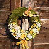 Dekorácie - Veľkonočný venček na dvere - 9177491_