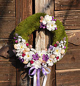Dekorácie - Veľkonočný venček na dvere - 9177517_
