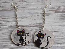 Náušnice - Náušnice - Black Cat - 9180658_