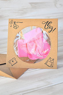 Papiernictvo - pozdrav k narodeniu dievčatka - 9182141_