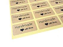 Papier - Nálepka Handmade with Love - 30 ks - 9181668_