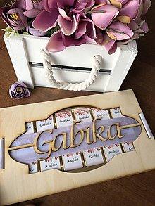 Drobnosti - Originálny čokoládový dezert s vyrezávaným menom - 9180909_