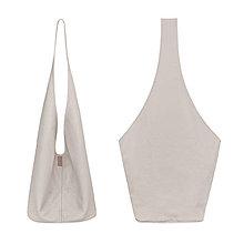 Veľké tašky - SHORT BOOGIE BAG béžová textura - 9178107_