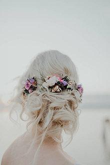 """Ozdoby do vlasov - Set hrebienku a aranžovaných vláseniek """"v rannej hmle"""" - 9179503_"""
