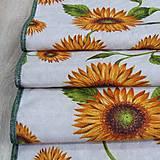 Úžitkový textil - Slnečnice na režnej - stredový obrus(2) - 9178276_