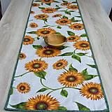 Úžitkový textil - Slnečnice na režnej - stredový obrus(2) - 9178281_