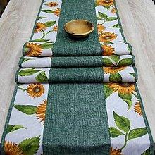 Úžitkový textil - Slnečnice na režnej - stredový obrus (3) - 9181939_