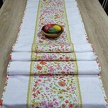 Úžitkový textil - Jarná nálada - stredový obrus - 9182236_