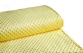 Textil - Minky žltá /yellow - 9178299_