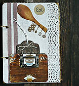 Papiernictvo - Receptár,kuchárska kniha,zápisník receptov Čipka - 9178161_