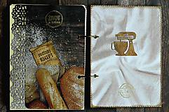 Papiernictvo - Receptár,kuchárska kniha,zápisník receptov Čipka - 9178177_