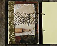 Papiernictvo - Receptár,kuchárska kniha,zápisník receptov Čipka - 9178180_