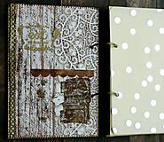 Papiernictvo - Receptár,kuchárska kniha,zápisník receptov Čipka - 9178183_