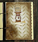 Papiernictvo - Receptár,kuchárska kniha,zápisník receptov Čipka - 9178192_