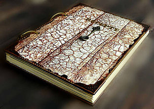 Papiernictvo - Receptár,kuchárska kniha,zápisník receptov Čipka - 9178163_