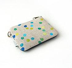 Kľúčenky - Kľúčenka potlačená bodkami Modrá - 9177733_