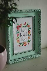 Obrázky - Live Laugh Love - predaný - 9177955_