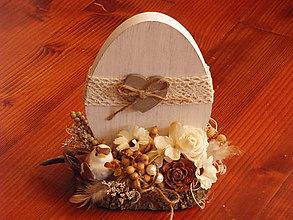 Dekorácie - Veľkonočné vajíčko na drevenom podstavci - 9179271_