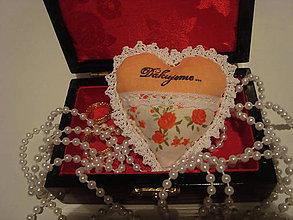 Darčeky pre svadobčanov - Svadobné srdiečko  (Oranžová) - 9178526_