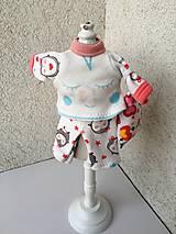 - Pyžamko pre bábiku s vankúšikom- 25-27 cm. - 9179781_