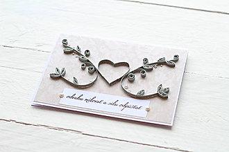 Papiernictvo - svadobná pohľadnica - 9177851_